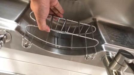OPPLE卫浴-大单槽中间挂篮操作