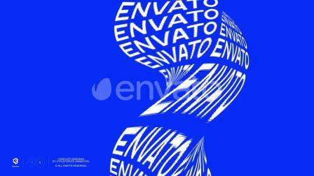 AE模板 创意个性扭转变形形状文字矩阵标题字幕动画特效