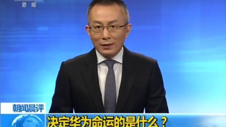 朝闻晨评:决定华为命运的是什么?