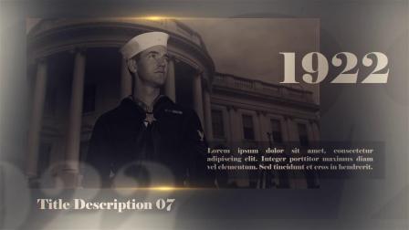 23110705 AE模板-历史复古幻灯片展示