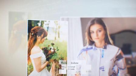 AE模板 温馨小清新爱情同学聚会回忆电子相册图文展示视频幻灯片