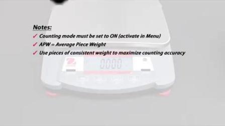 OHAUS Navigator Electronic Balances - How to- set a new APW (EN)