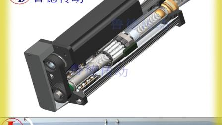鲁德电动伺服缸电动推杆,滚珠丝杠,同轴直线