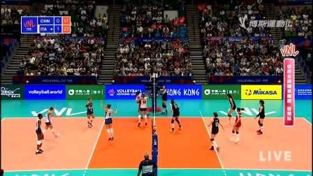 6月6日中国vs意大利-世界女排联赛第3周第3轮香港站(国语)