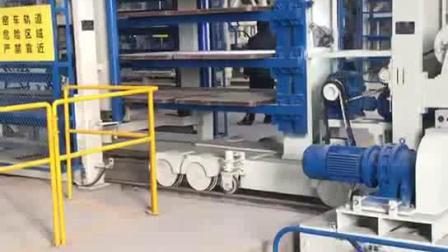银马透水砖制砖机自动化生产线从出砖到码砖、
