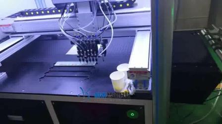 贺卡视觉点钻机,自动识别粘粘机 。