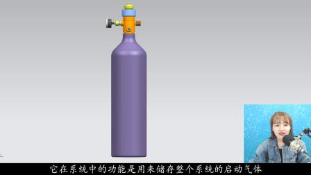 【3D模型】稳稳消防工程师气体灭火系统驱动气瓶原理动画讲解