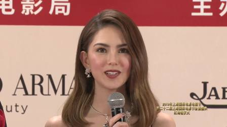 第22届上海国际电影节颁奖典礼 《天火》剧组前来报道,昆凌领衔众美女集体登台