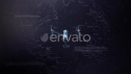 22102292 AE模板-无人机元素LOGO展示