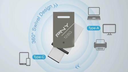 PNY Duley Type-C/ Type-A 双头手机U盘