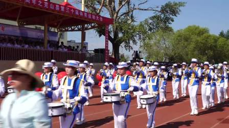 克山县第三十届体育运动大会检阅式