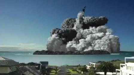 19.6.9印尼苏门答腊岛锡纳朋火山爆发(监控仪实拍过程)