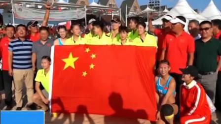 亚洲沙滩手球锦标赛 五战全胜中国女子沙滩手球队夺冠