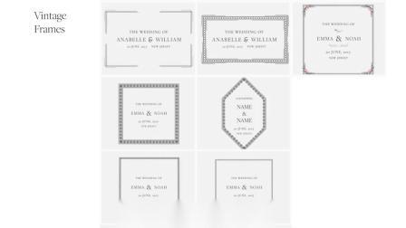 AE模板-婚礼新人文字标题花朵装饰包装动画