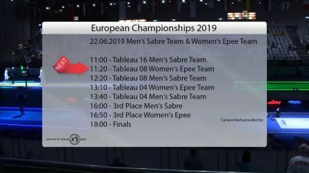 2019年欧洲击剑锦标赛 团体第6天 Commentary Feed