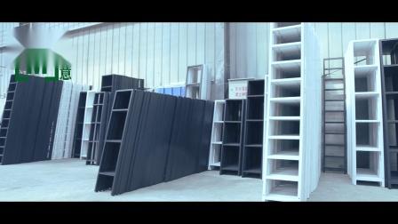 沐意 货架展柜精品展示柜带背板现代简约超市产品层架化妆品展架 5层80欧式门+无灯箱