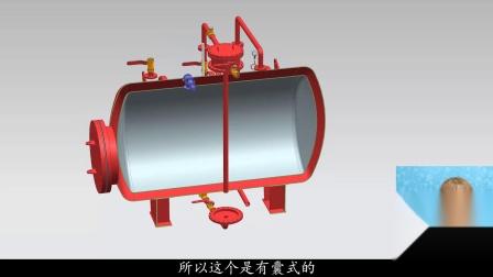 【3D模型】稳稳消防工程师泡沫灭火系统泡沫比例混合器原理动画讲解
