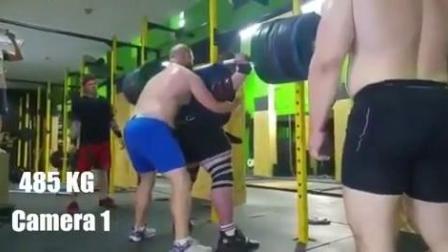 阿尔哈佐夫训练中深蹲485公斤
