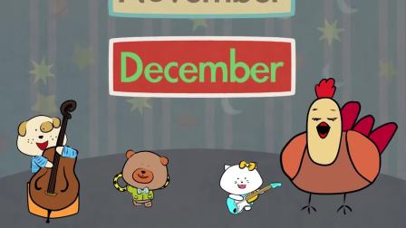 Months of the Year Song - Song for Kids - The Singing Walrus