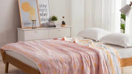 纯棉毛巾被儿童婴儿双人单人六层纱布夏季薄款被子午休午睡小毯子