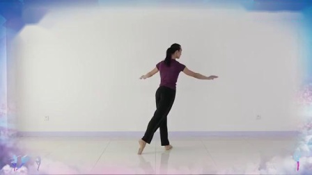 秦来财老师芭蕾形体舞蹈《月满西楼》背面