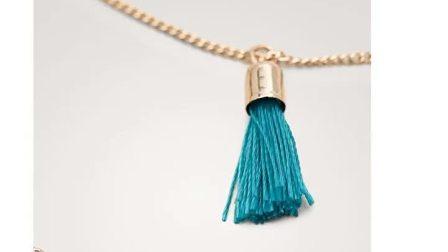 Massimo Dutti 女童 珍珠和流苏项链 04606084302