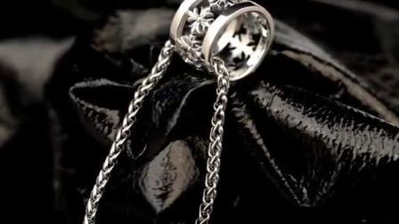法国IDee十字架环925银项链潮男个性吊坠圈圈时尚配饰泰银饰品