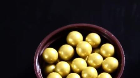 生日蛋糕装饰彩糖珠可食用圣诞节珍珠银色烘焙糖针甜甜圈大小号