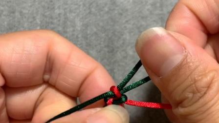 手工DIY编绳手链中国结基础结教学-锁结编法芊巧手绳diy