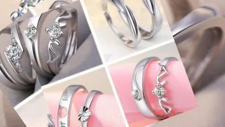 仿钻戒婚礼道具求婚戒男女情侣戒指钻石饰品结婚对戒仿真一对活口