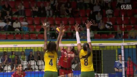 2016年瑞士女排精英赛A组中国VS巴西