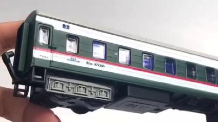 187东风火车头车厢合金模型声光古典绿皮火车模型古典儿童玩具车