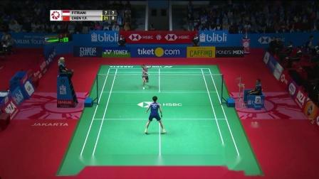 2019印度尼西亚羽毛球公开赛 陈雨菲VS菲迪亚尼 集锦