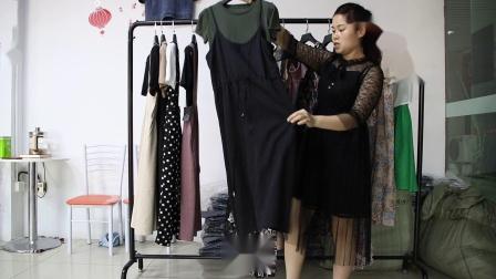 2019年最新精品女装批发服装批发时尚服饰时尚女士新款夏装连衣裙两件套20件起批,视频款可挑款零售混批.mp4