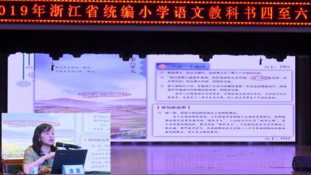 2019浙江省小学语文统编教材培训资料汇编0614上午
