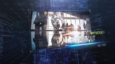 V7 AE模板-三维空间科技感图片展示片头 Digital Slideshow