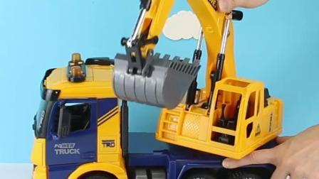 超大号工程翻斗车儿童玩具挖土机大卡车仿真货车惯性汽车模型男孩