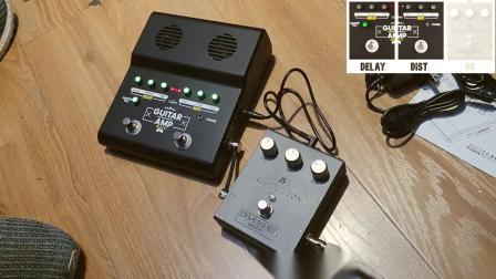 Scuru s5单块效果器 充电 电吉他音箱 失真延迟箱体模拟 耳放 aux