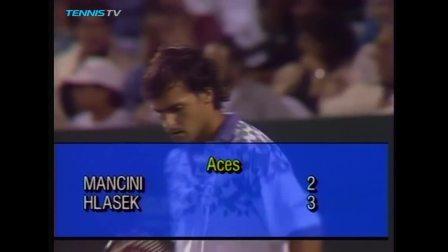 【全场】曼奇尼VS赫拉赛克 1992年迈阿密大师赛半决赛