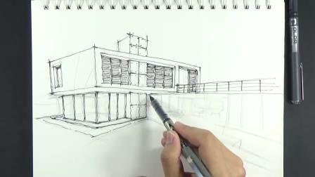 20190730_123164马克笔彩铅-建筑快题设计书籍临摹学习记录进步历史原速视频01