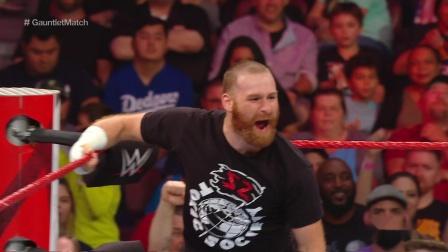 【RAW 07/29】雷尔淘汰萨米辛,仅用了30秒
