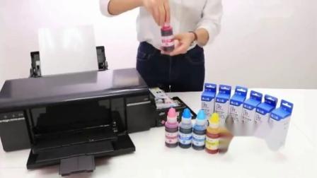 格之格适用爱普生T674墨水 EPSON L801 L805 L810 L850 L1800墨仓式喷墨印表机墨水T6741墨盒连续供墨系统墨水6色墨水