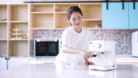 Hauswirt海氏 HC71意式咖啡机家用小型全半自动拉花蒸汽式打奶泡