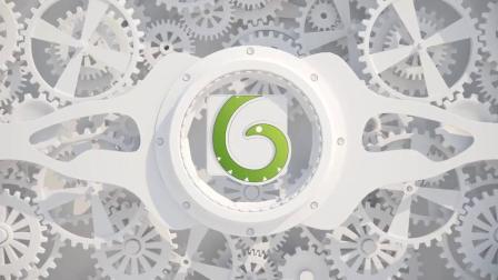 AE模板-白色滚动齿轮LOGO标志展示片头 White Gears Logo
