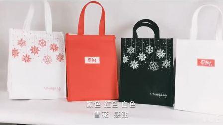 现货蛋糕保温袋冷藏袋耶诞节保温袋外送保温袋铝箔保温袋三个