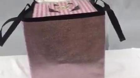现货厂家直销各寸加高加厚双层蛋糕保温包铝箔保鲜袋便当包荔枝纹