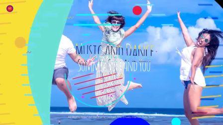 AE1250 AE模板-青春时尚 卡通元素 旅游度假 栏目活动视频开场 宣传片头