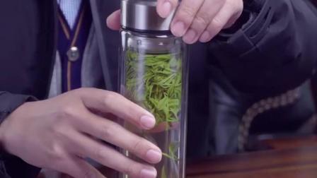 仝器双层玻璃杯男女士水杯可携式杯子隔热带盖子过滤网茶杯家用泡茶杯