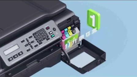 兄弟brother MFC-T800W彩色连续供墨系统喷墨印表机 wifi无线影印扫瞄多功能四合一传真All办公家用商用墨仓式