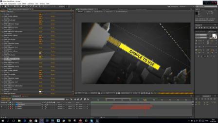 AE479 虚拟模块化商业元素三维城市介绍标题幻灯片ae模板